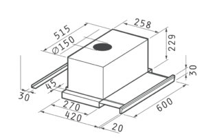 Turbo 60cm Essential INOX (065017501)